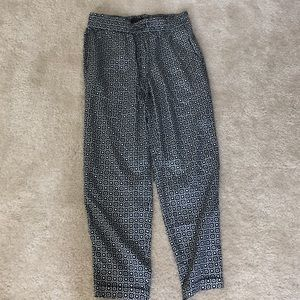 J. Crew silky patterned trousers